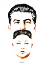 Cartoon: Communists! (small) by Ali Miraee tagged communists,stalin,josef,kim,jungh,yun,comunism,alimiraee,ali,miraee