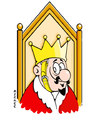 Cartoon: The King (small) by Ali Miraee tagged king,dictator,ali,miraee,miraie,mirayi,iran