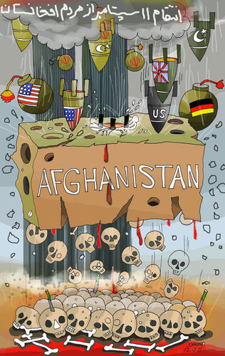 Cartoon: afghanistan and 11 Sep (medium) by Shahid Atiq tagged sep,11,and,afghanistan