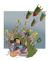 Cartoon: AFGHANS WANT PEACE ! (small) by Shahid Atiq tagged afganistan