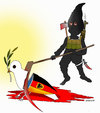 Cartoon: Terror attacks in munich (small) by Afghancartoon tagged afghanistan,kabul,syria,iran,switzerland,schweiz,usa,france,football,safi,cartooneu,uk,safe,atiq,fara,shahid,nice,munich