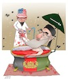 Cartoon: War lords Hekmatyar! (small) by Shahid Atiq tagged afghanistan,balkh,attack