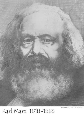 Cartoon: Karl Marx (medium) by heschmand tagged karl,marx