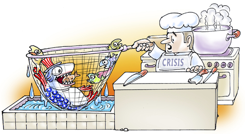 Cartoon: always hungry (medium) by gonopolsky tagged usa,crisis