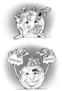 Cartoon: how to calm them down? (small) by gonopolsky tagged earth,crisis,ecology