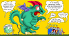 Cartoon: inflated dragon (small) by gonopolsky tagged europe,debt,crisis,unity