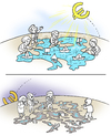 Cartoon: sunrise and sunset (small) by gonopolsky tagged europe,crisis,euro