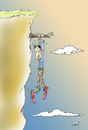 Cartoon: Shoes to the edge (small) by llobet tagged precipice,shoes,edge
