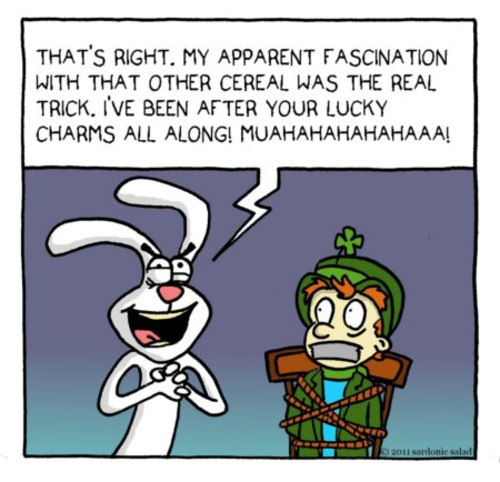 Cartoon: silly rabbit (medium) by sardonic salad tagged trix,cartoon,comic,lucky,charms,cereal,sardonic,salad