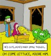 Cartoon: lettuce adore (small) by sardonic salad tagged lettuce,adore,cartoon,comic,sardonic,salad,christmas