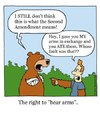 Cartoon: the right to bear arms (small) by sardonic salad tagged right,to,bear,arms,cartoon,comic,sardonicsalad