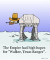 Cartoon: Walker Texas Ranger (small) by sardonic salad tagged starwars,chuck,norris,empire,walker
