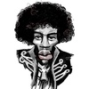 Cartoon: Jimi Hendrix (small) by Fredjoo tagged jimi,hendrix,rock,blues,caricature
