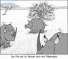 Cartoon: Überkompensation (small) by Zapp313 tagged nashorn,pfau,überkompensation,minderwertigkeitskomplexe,porsche