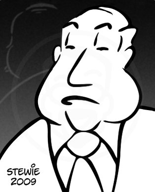 Cartoon: Alfred Hitchcock (medium) by stewie tagged hitchcock,alfred
