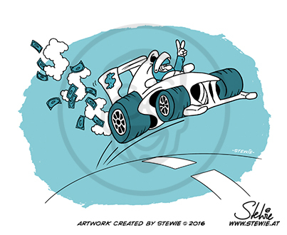 Cartoon: Car Racing (medium) by stewie tagged car,racing