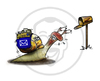 Cartoon: Snail Mail (small) by stewie tagged snail,mail