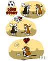 Cartoon: Soccer Love Story (small) by stewie tagged soccer,love,story