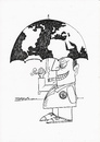 Cartoon: Global (small) by ercan baysal tagged capitalist,rich,cartoons,politico,euro,dollar,good,job,fantasy,daydream,create,picture,image,pencil,vision,opinion,form,depict,tattoo,symbol,logo,black,white,man,politics,umbrella,line,ink,ercanbaysal,exploitation,money