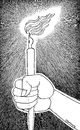 Cartoon: Pen and light (small) by ercan baysal tagged pen,light,hand,torch,line,ink,good,draw,job,picture,image,vision,favorite,master,drawing,newspaper,magazine,resistance,life,handmade,design,cartoon,logo,tattoo,white,black,illustration,ercanbaysal,turkey,turkiye