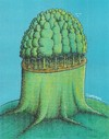 Cartoon: Trees (small) by ercan baysal tagged tree,root,green,nature,satire,resistance,good,job,fine,fineart,picture,fantasy,surreal,dream,daydream,coloring,vision,paint,create,pencil,mixed,master,work,art,artwork,coloured,handmade,cartoon,humor,orman