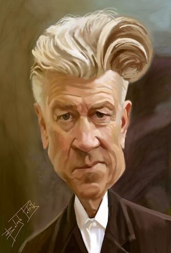 Cartoon: Lynch (medium) by bpatric tagged david,lynch,director,screenwriter,producer,painter,musician,sound,designer,photographer,actor,twin,peaks