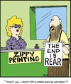 Cartoon: Apocolyptic fail (small) by Tim Akin Ink tagged printing,crazy,loony,cartoon