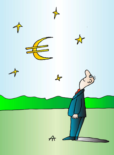 Cartoon: Euro (medium) by Alexei Talimonov tagged euro