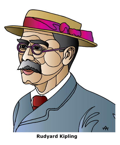 Cartoon: Rudyard Kipling (medium) by Alexei Talimonov tagged kipling