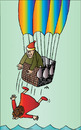 Cartoon: Baloon and woman (small) by Alexei Talimonov tagged baloon,woman