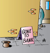 Cartoon: Gone To Bank (small) by Alexei Talimonov tagged beggar,bank