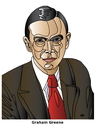 Cartoon: Graham Greene (small) by Alexei Talimonov tagged greene