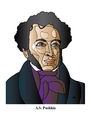 Cartoon: Pushkin (small) by Alexei Talimonov tagged pushkin
