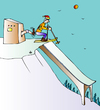 Cartoon: Skiing (small) by Alexei Talimonov tagged snow,winter,skiing,olympics