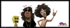 Cartoon: LMFAO caricature (small) by GRamirez tagged lmfao,skyblu,redfoo,guillermo,ramirez,caricature