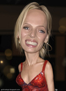 Cartoon: Uma Thurman caricature (small) by GRamirez tagged uma,thurman,caricature