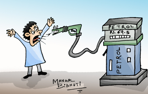 Cartoon: Petrol price (medium) by mangalbibhuti tagged petrol,price,petrolpump,india,govt,mangal,mangalbibhuti