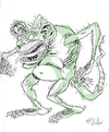 Cartoon: Rat Thing (small) by Cartoons and Illustrations by Jim McDermott tagged rat scary animals monster horror