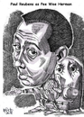 Cartoon: The Pee Wee Hermon Show (small) by Cartoons and Illustrations by Jim McDermott tagged peeweeherman,tvshow,actor,caricatures