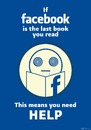 Cartoon: Facebook Addict Poster (small) by sebtahu4 tagged facebook,addict,paperbacks,typography,social,network,books
