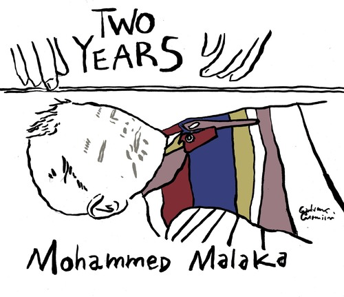 Cartoon: Two Years Mohammed Malaka (medium) by Political Comics tagged stop,bombing,gaza,mohammed,malaka,palestine,palestina