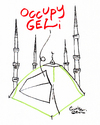 Cartoon: Occupation and minarets (small) by Political Comics tagged occupy,gezi,istanbul