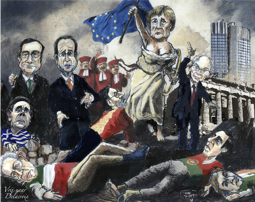 Cartoon: Leading the way (medium) by jean gouders cartoons tagged euro,europe,crisis,euro,europe,crisis