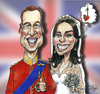Cartoon: Kate and Wills (small) by jean gouders cartoons tagged royal,wedding,kate,william,winsor,jean,gouders