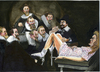 Cartoon: The gynecological lesson (small) by jean gouders cartoons tagged rembrandt art parody jean gouders