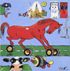 Cartoon: Numansdorp  tyres (small) by cornagel tagged tyres,horses,pk,funny