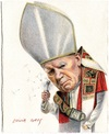 Cartoon: Pope John Paul II (small) by Otilia Bors tagged pope john paul ll