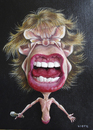 Cartoon: Mick Jagger (small) by lloyy tagged mick jagger singer rock and roll famous people