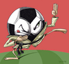 Cartoon: Self-defence (small) by lloyy tagged soccer,sport,humor