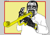 Cartoon: Louis Armstrong - Satchmo (small) by srba tagged satchmo jazz music art entertainment